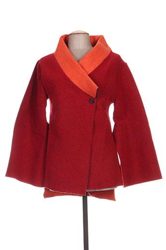 timono manteaux femme de couleur rouge