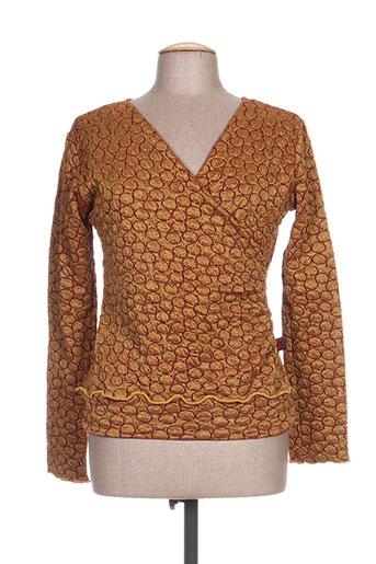 timono chemises femme de couleur jaune