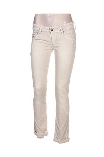 met jeans femme de couleur beige