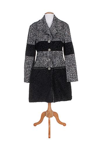 save the queen manteaux femme de couleur noir