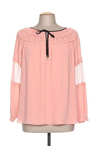 jus d'orange chemises femme de couleur rose