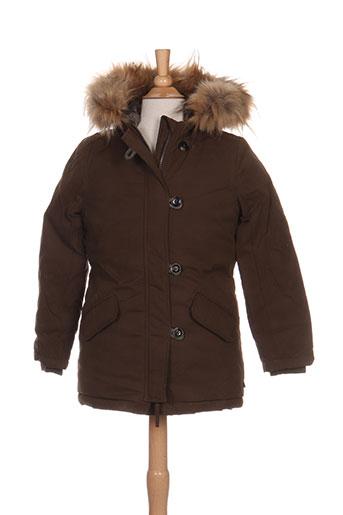 le temps d'un regard manteaux fille de couleur marron