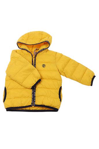 timberland manteaux garçon de couleur jaune