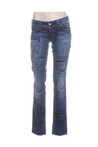 galliano jeans femme de couleur bleu