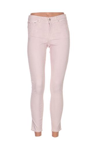 Pantalon casual rose ACNE STUDIOS pour femme