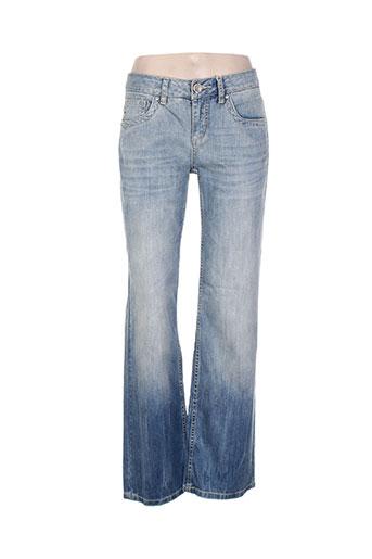 geisha jeans femme de couleur bleu