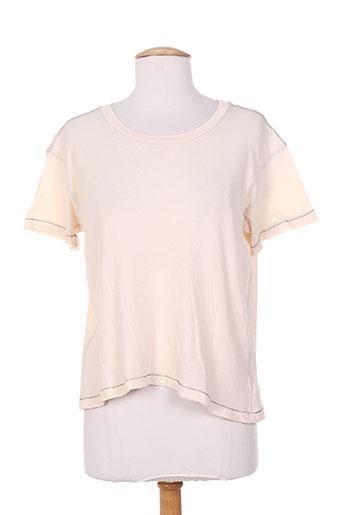 T-shirt manches courtes rose CURRENTE/ELLIOTT pour femme