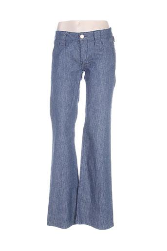 nfy jeans femme de couleur bleu