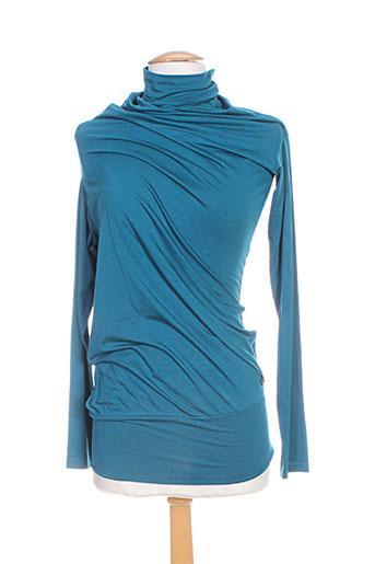 think chic tuniques femme de couleur bleu