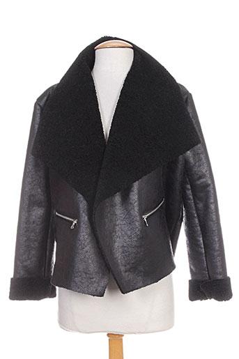 lumina manteaux femme de couleur noir