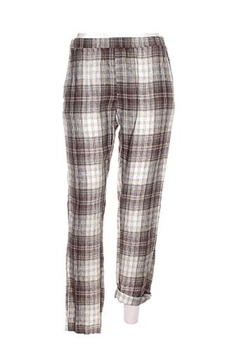 think chic pantalons femme de couleur marron