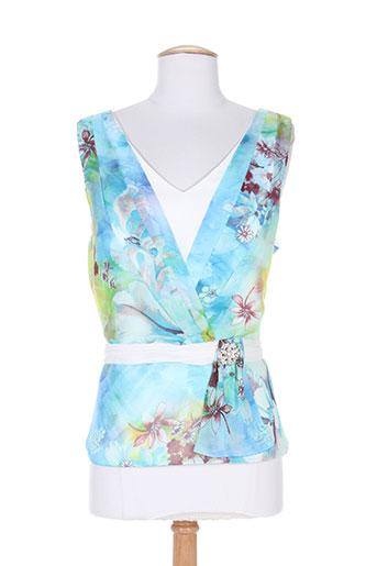 creatif paris chemises femme de couleur bleu