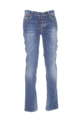 nudie jeans co jeans homme de couleur bleu