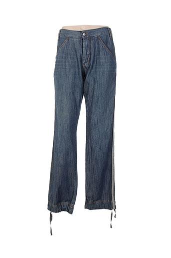 trussardi jeans pantacourts femme de couleur bleu