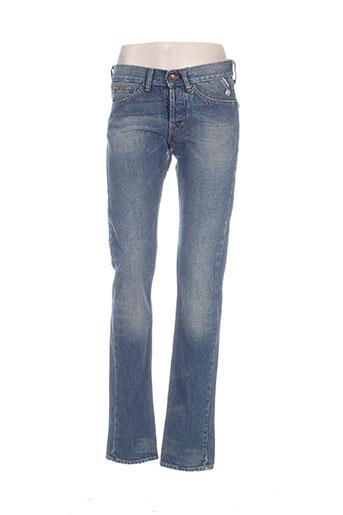freesoul jeans unisexe de couleur bleu