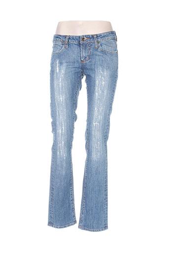 ed hardy jeans femme de couleur bleu