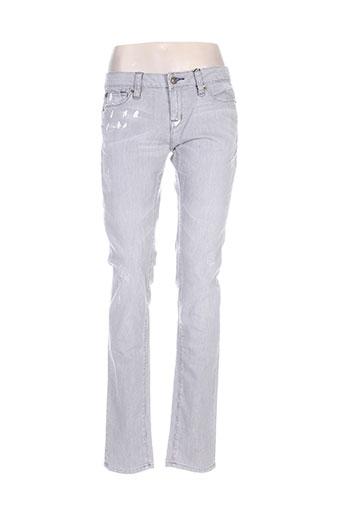 Jeans coupe slim gris ED HARDY pour femme