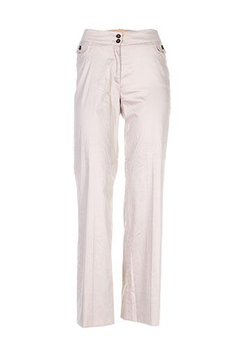 Pantalon chic beige DIANA GALLESI pour femme