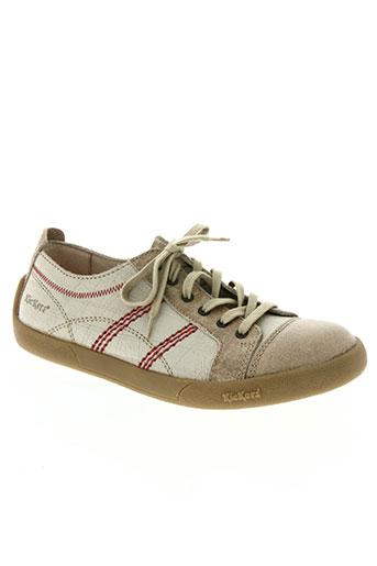 kickers chaussures homme de couleur beige