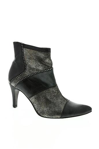 un tour en ville chaussures femme de couleur noir