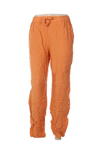 carole richard pantalons femme de couleur orange