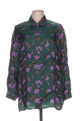 carole richard chemises femme de couleur vert