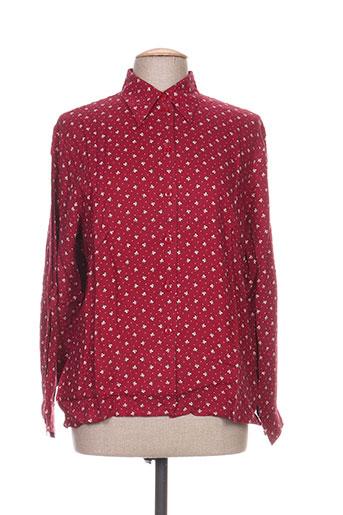 carole richard chemises femme de couleur rouge