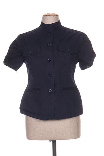 point de suspension vestes femme de couleur bleu