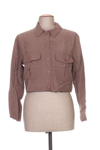 in wear vestes femme de couleur marron