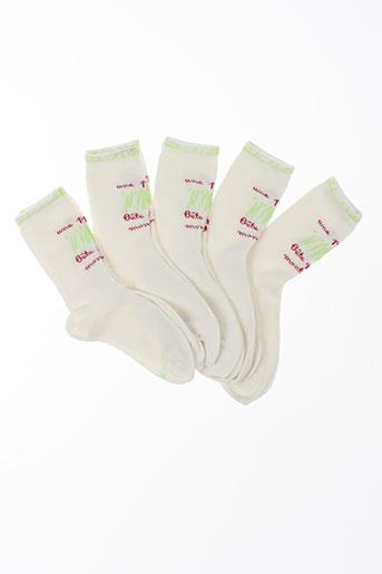 Chaussettes blanc KINDY pour fille