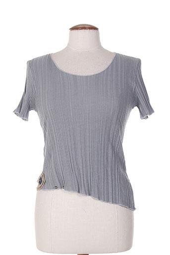 T-shirt manches courtes gris CATY LESCA pour femme