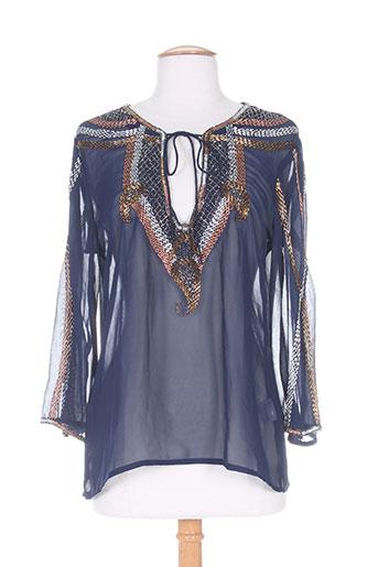 free minds.. chemises femme de couleur bleu