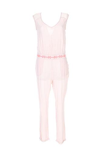 Combi-pantalon rose FREE MINDS.. pour femme