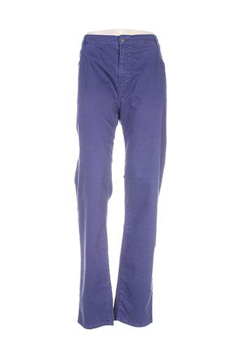 jean gabriel pantalons femme de couleur bleu