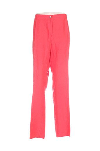 jean gabriel pantalons femme de couleur rouge