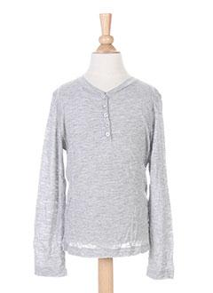 T-shirt manches longues gris BERENICE pour fille