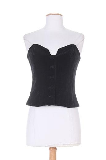 canotier chemises femme de couleur noir