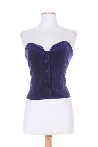 canotier chemises femme de couleur violet