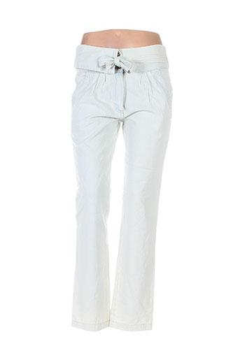 shyde pantalons femme de couleur bleu