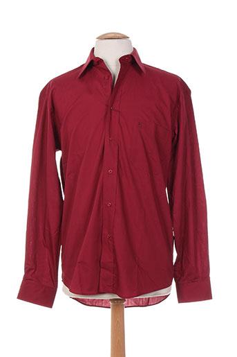 bande originale chemises homme de couleur rouge