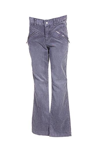 3 pommes pantalons fille de couleur gris