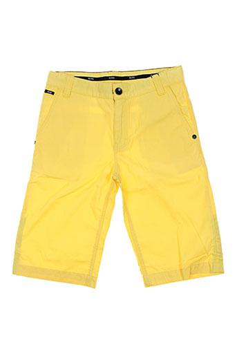 hugo boss shorts / bermudas garçon de couleur jaune