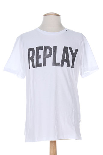 replay t-shirts homme de couleur blanc