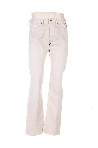 Pantalon casual beige REPLAY pour homme