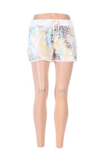 kocca shorts / bermudas femme de couleur jaune