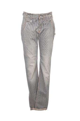 fornarina pantalons femme de couleur bleu