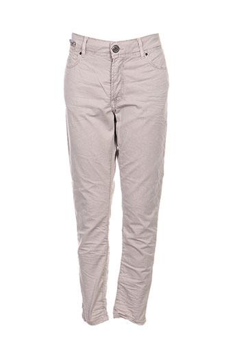 Pantalon 7/8 gris DN.SIXTY SEVEN pour femme