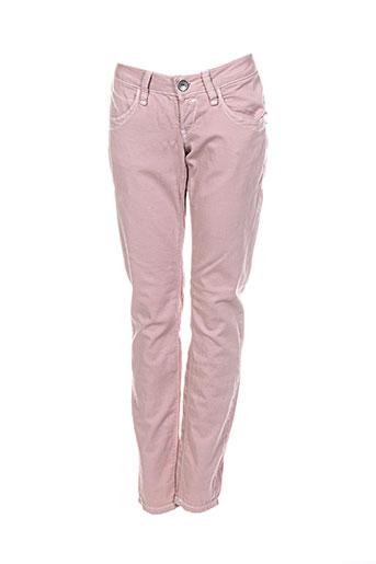 fornarina pantalons femme de couleur rose