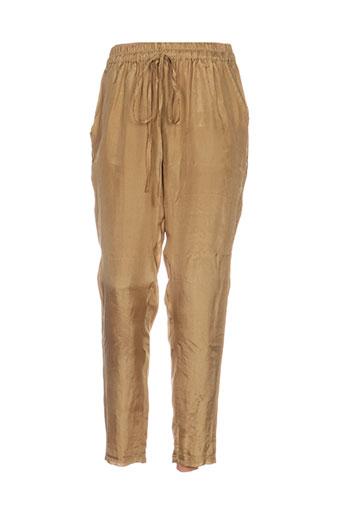 izi mi porto-vecchio pantalons femme de couleur jaune