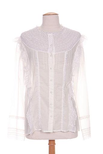 my sunday morning chemises femme de couleur blanc